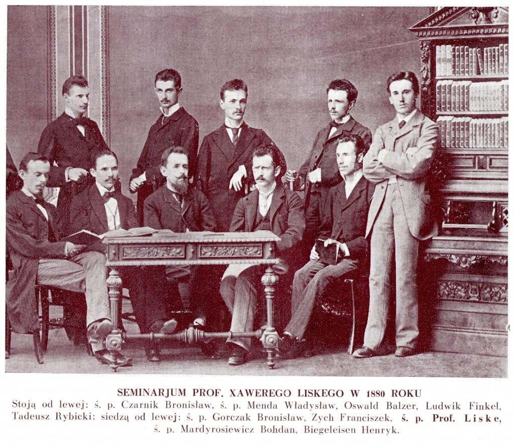 Науковий семінар під керівництвом проф. Ксаверія Ліске. 1880р.